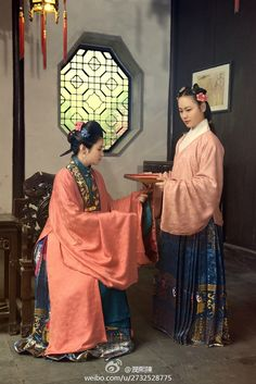 The traditional costumes of Chinese Han nationality