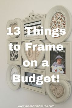 """We moved house last July and since then I've been obsessed with buying picture frames, new and second hand, to frame stuff. And when I mean """"stuff"""" I really do mean stuff. I mean scraps of fabric. I mean snippets of thread. I like to frame lots of stuff!"""