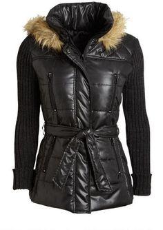 Sweater Sleeve Nylon Coat