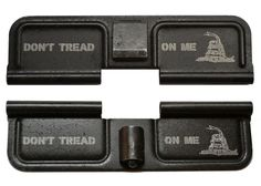 Engraved AR15 (223/556) Ejection Port Dust Cover - Don't Tread On Me - Tactical Gear Junkie