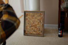 Wine Cork Frame-site not available yet like the cork layout