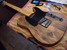 After restoring a guitar around the Christmas holidays, in the early spring I also built one (almost) from scratch! Telecaster Custom, Stratocaster Guitar, Fender Guitars, Fender Electric Guitar, Custom Electric Guitars, Custom Guitars, Guitar Chord Progressions, Guitar Crafts, Guitar Tips