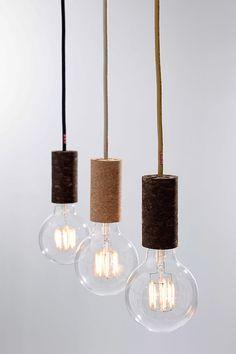 NUD cork - lamp holder made of cork