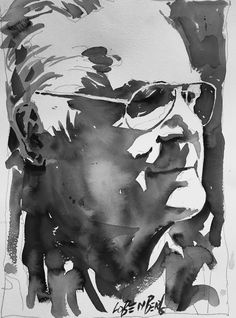 A mono-chromatic value study demonstration that I created in one of my California Vibe Watercolor Portraiture™ workshops