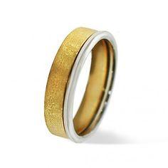 Alianza de boda oro amarillo y oro blanco