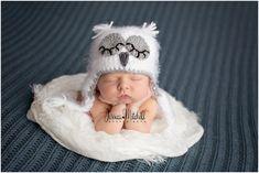 Crochet Fuzzy Baby Owl Hat, Multiple Sizes, Newborn Owl Photo Prop, Newborn Owl Hat