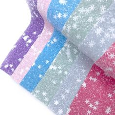 Its Snowing Snowflakes Sequin Chunky Glitter Fabric Sheets Glitter Fabric, Snowflakes, Craft Supplies, Sequins, Velvet, Bows, Colours, A4