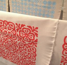 screen printed fabric - could be stamped!
