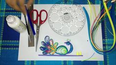 """In this video I present how I made a quilling letter """"L"""". I used the paper quilling technique known as the art of curling and shaping paper. This is the firs. Quilling Videos, Quilling Work, Origami And Quilling, Quilling Paper Craft, Quilling Techniques, Peacock Quilling, Toilet Paper Roll Crafts, Diy Paper, Paper Art"""