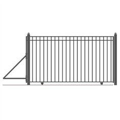 Aleko Steel Sliding Driveway Gate - Madrid Style - 25 x 6 ft, Black