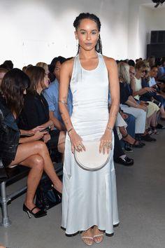 7e47e42be2 Calvin Klein Collection - Front Row - Spring 2016 New York Fashion Week   The Shows. Zoe Kravitz ...