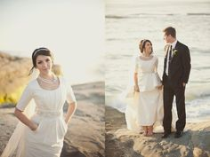 !I'm completely in love with this wedding dress with pockets and a removable skirt layer!