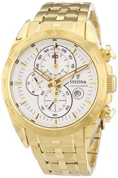 Men's Watch Festina - Gold Stainless Steel Band - Chronograph - F16656/1 https://www.carrywatches.com/product/mens-watch-festina-gold-stainless-steel-band-chronograph-f166561/  #automaticwatch #chronograph #festina #festinawatch #festinawatches #men #menswatches - More Festina mens watches at https://www.carrywatches.com/shop/wrist-watches-men/for-men-festina-watches/