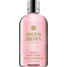 Molton Brown Delicious Rhubarb and Rose Bath and Shower Gel 10 oz (296... ($30) ❤ liked on Polyvore featuring beauty products, bath & body products, body cleansers and molton brown