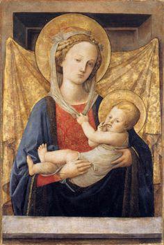 Madonna and Child, Filippo Lippi, c. 1450, Tempera and Gold on Wood, 80 x 53 cm, Fondazione Magnani-Rocca, Corte di Mamiano (Parma), Italy.