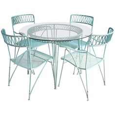 Wrought Iron Dining Set by Maurizio Tempestini for Salterini | From a unique collection of antique and modern garden furniture at http://www.1stdibs.com/furniture/building-garden/garden-furniture/
