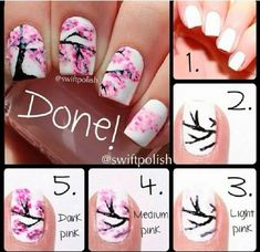 Pol To The Lish Nail Art Blogspot: Spring nails step by step