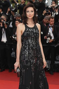 """Caitriona Balfe attends the """"Cafe Society"""" premiere and the Opening Night Gala during the annual Cannes Film Festival at the Palais des Festivals on May 2016 in Cannes, France. Caitriona Balfe Outlander, Sam Heughan Outlander, Outlander Characters, Outlander Casting, Outlander Series, Palais Des Festivals, Hollywood, Diana Gabaldon, Jamie Fraser"""