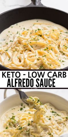 Best Keto Alfredo Sauce This Easy Low Carb Has All The Authentic Flavors You Love But Is Much Lower In Net Carbs. Made With Heavy Cream And Parmesan, You Won't Believe How Good It Tastes Serve With Zucchini Noodles Pasta Keto Alfredo Sauce, Alfredo Sauce Recipe Easy, Heavy Cream Alfredo Sauce, Pasta Sauce Keto, Low Calorie Pasta Sauce, Gluten Free Alfredo Sauce, Alfredo Noodles, Keto Pasta Recipe, Healthy Low Carb Recipes