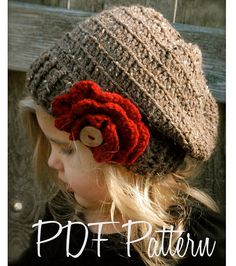 Crochet PATTERNThe Scarlett Slouchy Toddler by Thevelvetacorn, $5.50