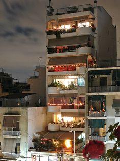 Athens at night.
