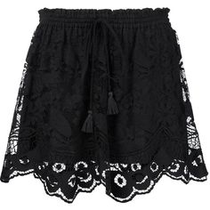 Chloé Embroidered Skirt ($1,750) ❤ liked on Polyvore featuring skirts, black, drawstring skirt, floral printed skirt, floral print a-line skirt, flower print skirt and embroidered skirt