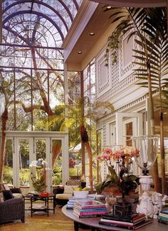 Solarium in a home designed by Paul R. Williams for the Hollywood director Otto Preminger.