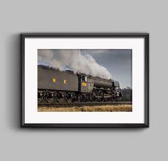 Colour Landscape photograph of Flying Scotsman British Rail