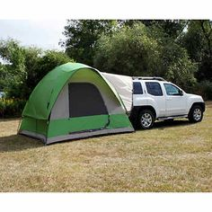 Napier Outdoors Backroadz 13100 SUV Tent - Turn your minivan or SUV into part of the ultimate camping experience with the Backroadz 13100 SUV Tent. With a large, comfortable x bas. Truck Camping, Family Camping, Tent Camping, Camping Gear, Camping Hacks, Outdoor Camping, Outdoor Gear, Camping Outdoors, Minivan Camping