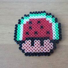 Watermelon mushroom hama beads by preziosa1985