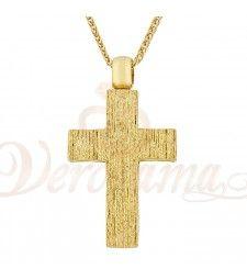 Σταυρός ανδρικός χρυσός Κ14 ST_029 Symbols, Letters, Letter, Lettering, Glyphs, Calligraphy, Icons
