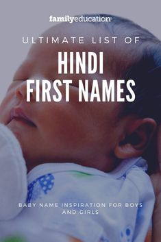 Looking for uncommon baby name inspiration?These Hindi first names are very unique! #Hindinames #babynames #familyeducation