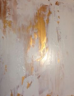 Abstract Painting Gold and White 11x14 от JenniferFlanniganart