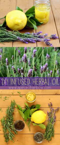 It is so easy and rewarding to make herbal oil from fresh herbs. We will make 3 infused oils: rosemary, lavender, and lemon! Here's the magical secret...