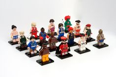 #Homemade Street Fighter LEGO characters by Julian Fong