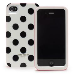 Kate Spade White w/ Large Black Dots iPhone 4 Case Iphone 5s, Apple Iphone, Iphone Phone Cases, Phone Covers, Laptop Cases, Laptop Carrying Case, Designer Cell Phone Cases, Kate Spade Designer, Cheap Phone Cases
