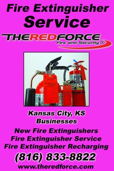 Fire Extinguisher Service Kansas City, KS (816) 833-8822 Call the Experts at The Red Force Fire and Security.. We are the complete source for Fire Extinguisher Service for Local Kansas Businesses We would love to hear from you.. Call us Today!