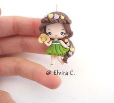 polymer clay little girl so cute