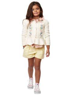 Pleated Oxford Short - Shorts  Girls 2–6X - RalphLauren.com
