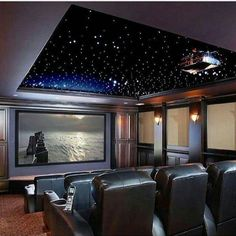 Home Theater Room Ideas. Start by determining the overall theme that will be used for your home theater design. Home Cinema Room, Home Theater Setup, Best Home Theater, At Home Movie Theater, Home Theater Rooms, Home Theater Design, Home Theater Seating, Cinema Theater, Home Theater Projectors