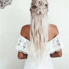 Our off-the-shoulder white lace dress is a great day and evening dress. Perfect for any hippie chic, and don't forget the flowers in your hair!
