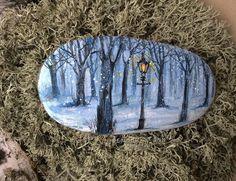Winter woods rock.