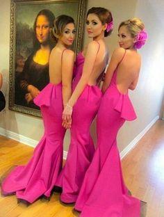 Long Bridesmaid Dresses, Trumpet Bridesmaid Dresses, Pink Bridesmaid Dresses, Sleeveless Bridesmaid Dresses, Hot Pink dresses, Long Bridesmaid Dresses, Hot Pink Bridesmaid Dresses, Long Pink dresses, Pink Long dresses