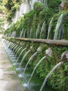 Villa D'Este, Rome. The Avenue Of 100 Fountains - beautiful by Hercio Dias
