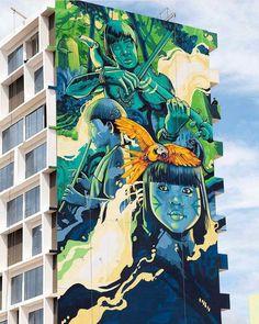 Ice & Rolo - New Street Art collaboration in Ciudad del Este, Paraguay.  #art #mural #graffiti #streetart