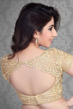 Designer with Raw & Lace Work - Blouse Designs High Neck, Blouse Designs Catalogue, Wedding Saree Blouse Designs, Simple Blouse Designs, Stylish Blouse Design, Fancy Blouse Designs, Designer Blouse Patterns, Sexy Blouse, Indian Beauty