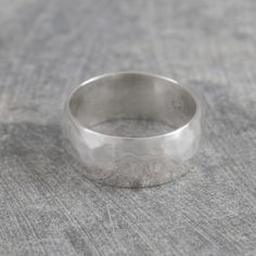 Hammered Chunky Silver Ring for Men - Classic, bold and uncomplicated, this Hammered Chunky Silver Ring for Men is a go-to piece for men (and women too!) who like their jewellery simple, stylish yet substantial. #Otisjaxon #Jewellery