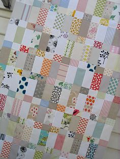 Love the fabric!  http://www.redpepperquilts.com/2009/06/strips-and-bricks.html