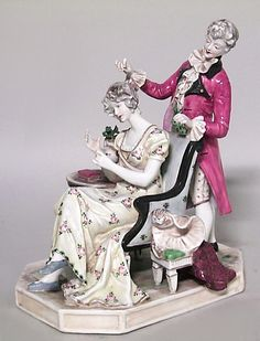 French Victorian figure small figure porcelain