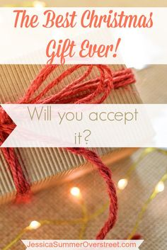 This Christmas, Jesus is offering us the best gift ever! It never gets old, goes out of style or breaks. It is two fold and can be enjoyed now and later. His gift to us is an invitation to have a relationship with Him while we are on earth and to be with Him in Heaven one day. Will you accept His Christmas gift to you? #giftoflove #eternallife #relationship